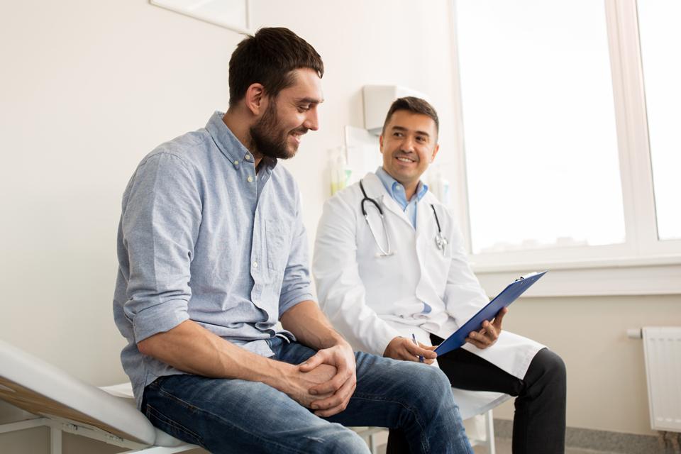 GP talking to patients